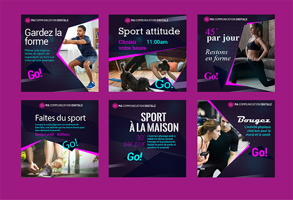 Campagne publicitaire – Sport
