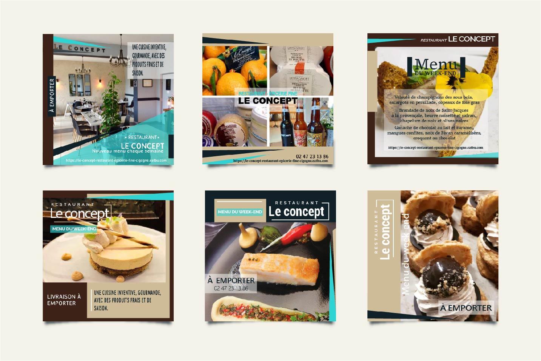 Campagne publicitaire pour un restaurant